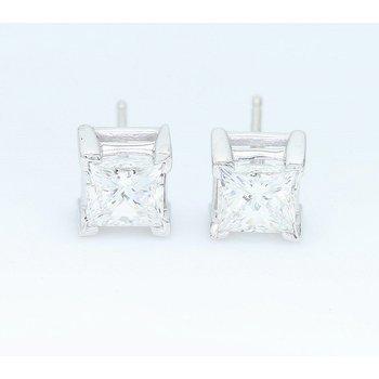 1.58 CTTW Princess Cut Diamond Studs