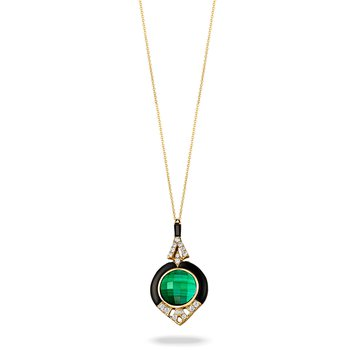 Black Onyx & Malachite Necklace