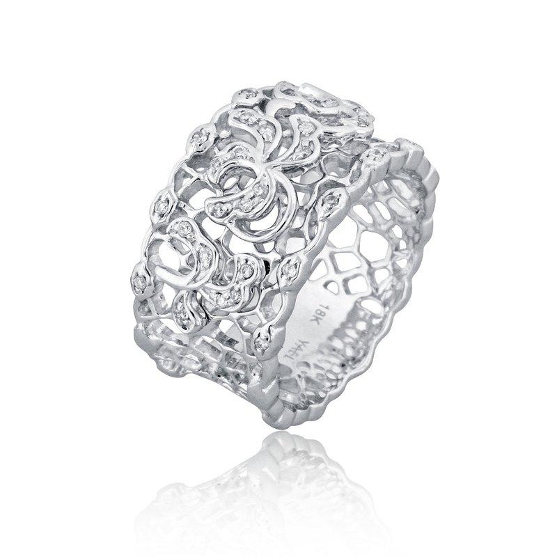 Yael Designs Bramble Wide Diamond Ring