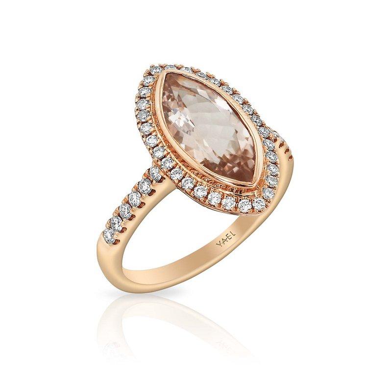 Yael Designs Marquise Morganite Ring 18KR