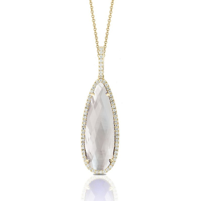 Doves Diamond Halo & Mother of Pearl Pendant