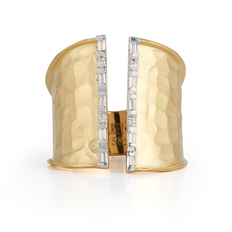 I. Reiss Open Cuff Ring 14KY
