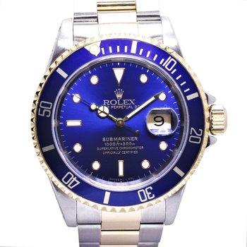 Submariner Blue Dial Steel & 18KY 16613