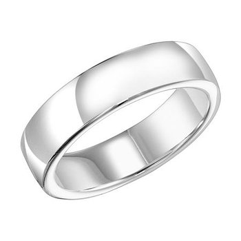 18K White Gold Ergo Fit Engraved Wedding Band