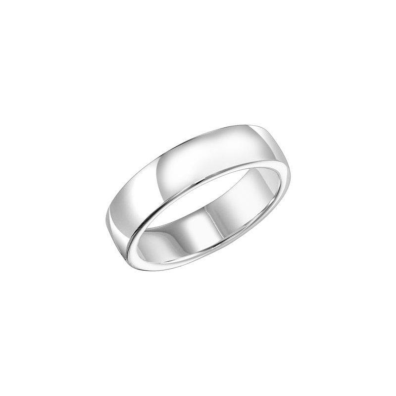 Frederick Goldman 18K White Gold Ergo Fit Engraved Wedding Band