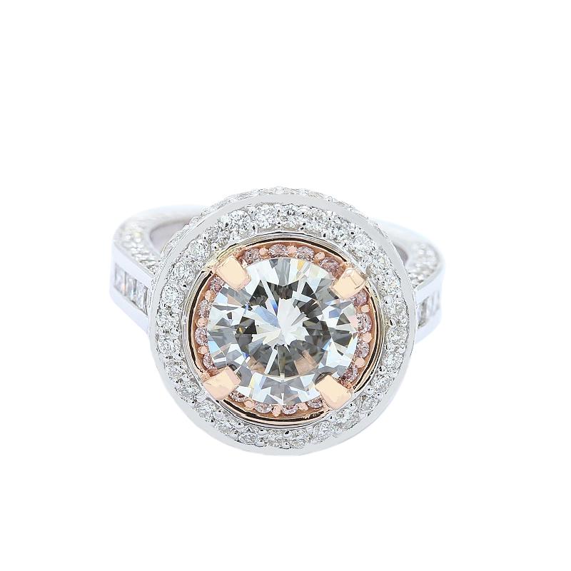 Lunaria Rose Gold Halo Engagement Ring