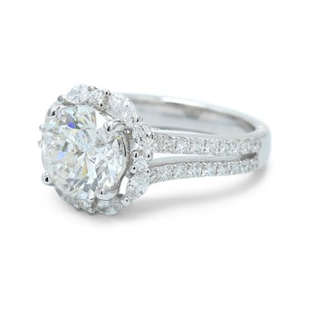 Round & Marquise Halo Ring - Setting Only