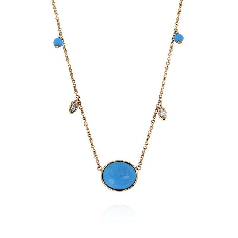 Yael Designs Turquoise & Diamond Necklace
