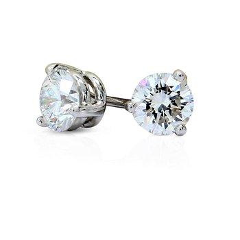 .93cttw Round Diamond Studs