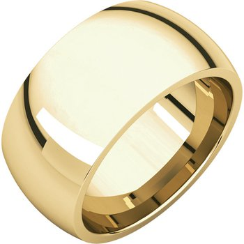 14K Yellow 10mm Comfort Fit Band