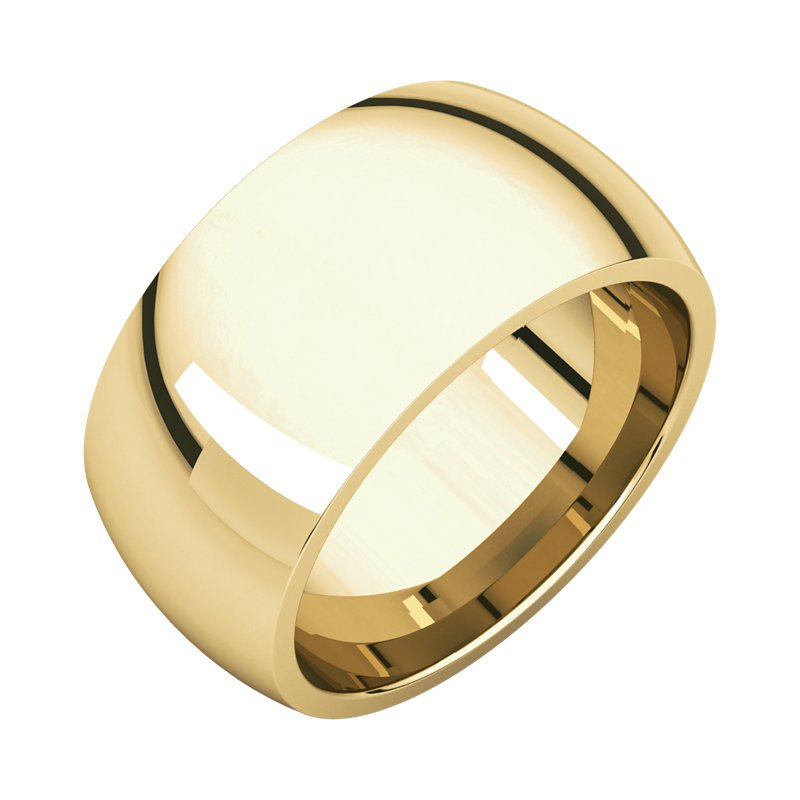 Gallery Designs 14K Yellow 10mm Comfort Fit Band