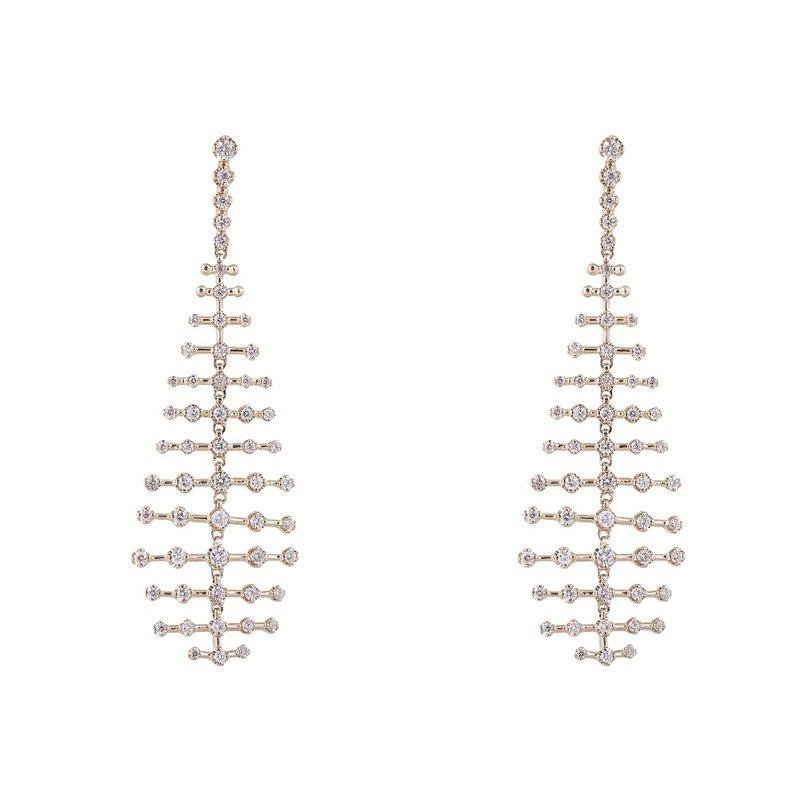 Sophia by Design 14K Yellow Diamond Dangle Earrings