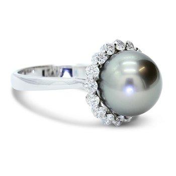 Tahitian Pearl Ring 18KW