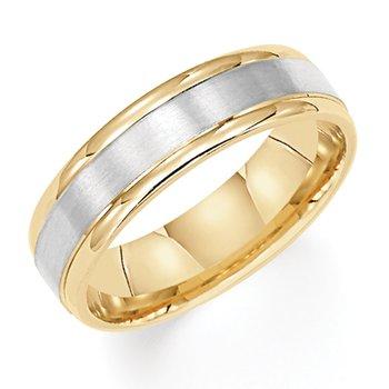 14K Two-Tone Yellow & White Gold Wedding Band