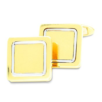 Square Polished Cuff Links 18K