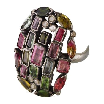 Multicolor Tourmaline Ring
