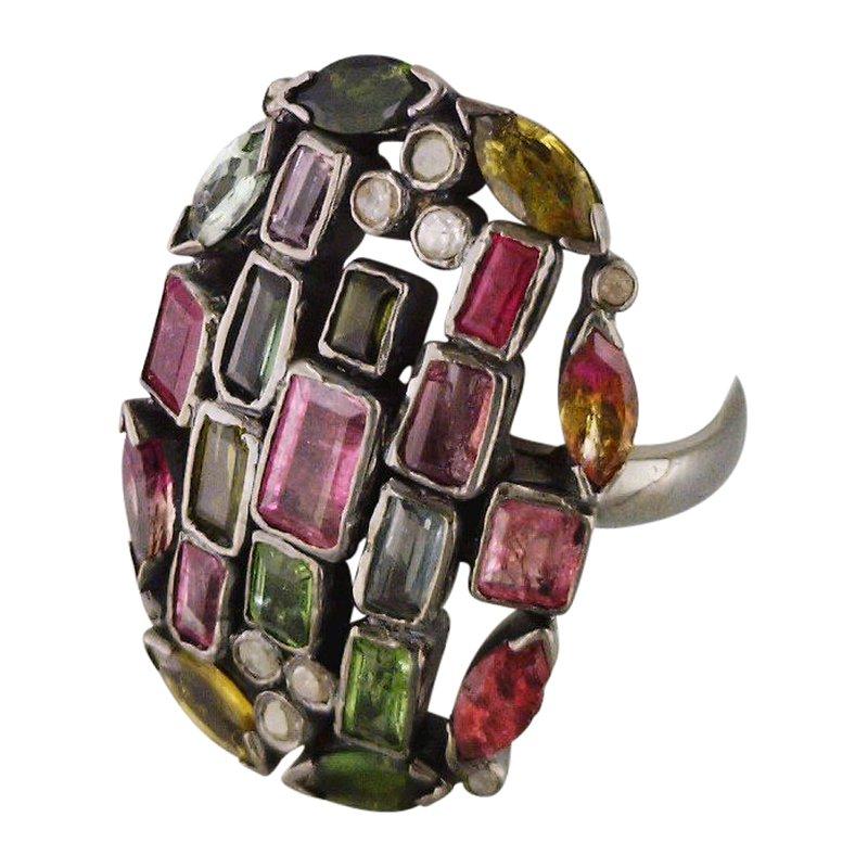 Reva Multicolor Tourmaline Ring