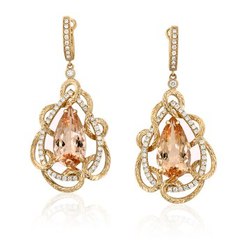 Bloom Morganite Earrings 18KR
