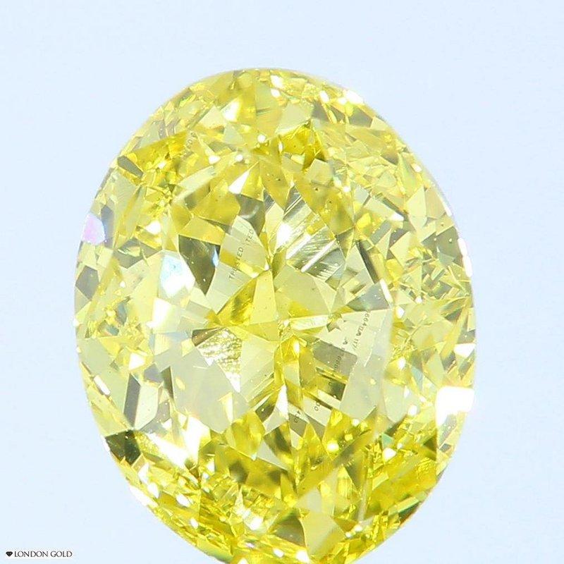 Colored Diamonds Oval 2.39 Treated Color-VS2