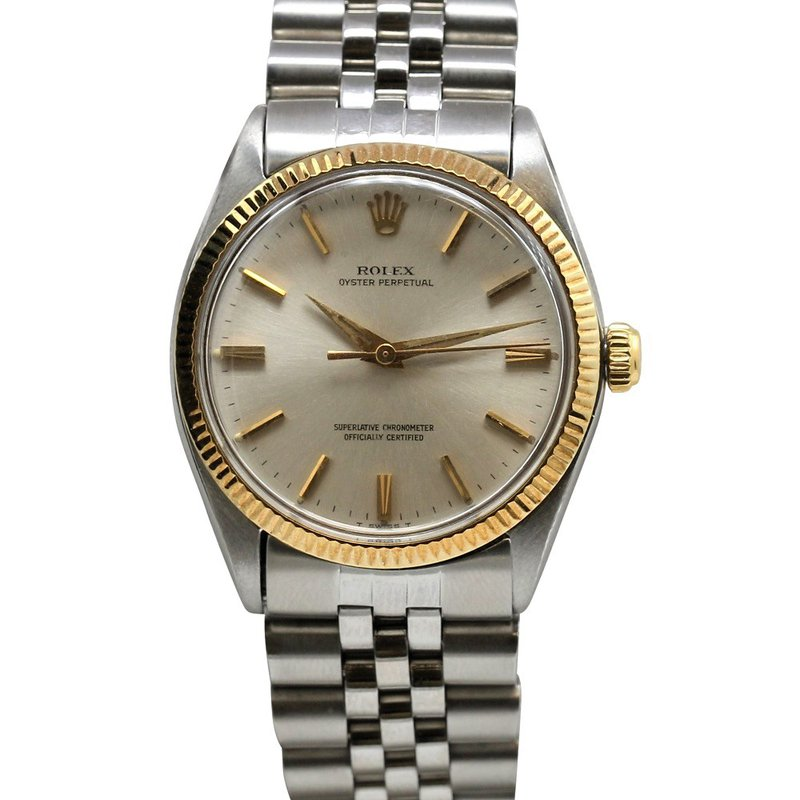 Rolex Pre-Owned Watches Datejust 18K & Steel Silver Dial 1005