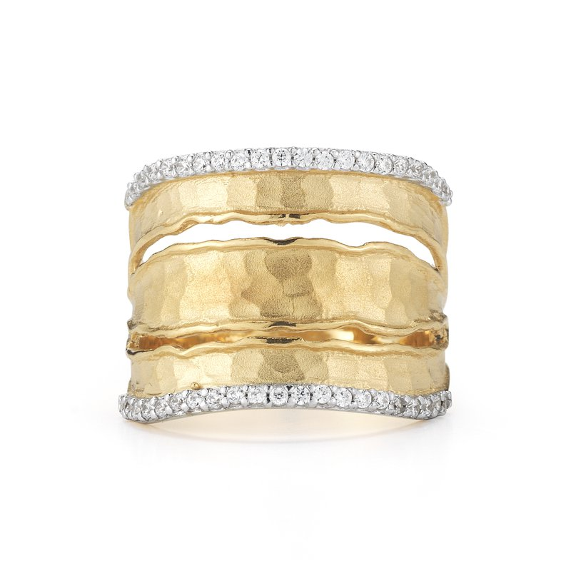 I. Reiss Diamond Edge Ring 14KY