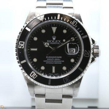 Submariner Black Dial Stainless Steel 16610