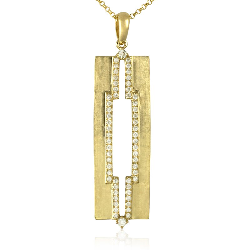 Sophia by Design Hammered Cut Out Pendant
