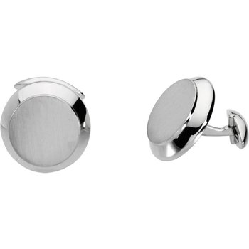 14K White Cuff Links