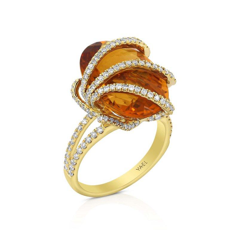 Yael Designs Chrysantha Citrine & Diamond Ring