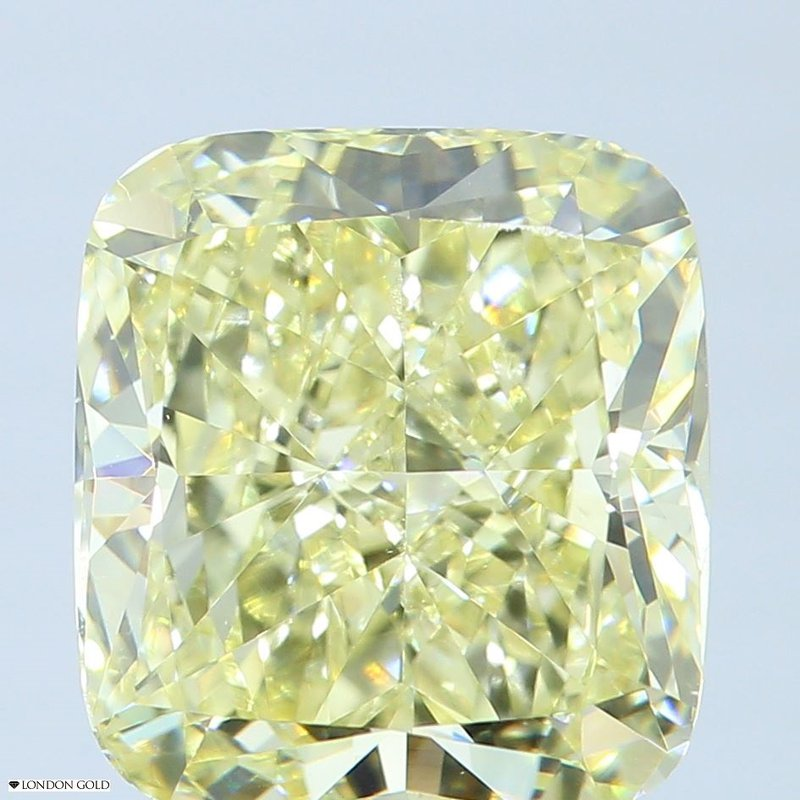 Colored Diamonds 2.04 Cushion Fancy Light Yellow VS1