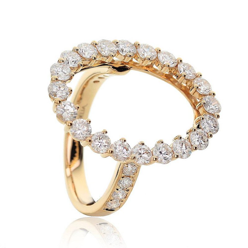 London Gold Designs Open Circle Ring 18KY