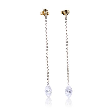 Peirced Marquise Chain Dangles 14KY