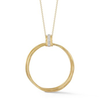 14KY Interlocking Circle Pendant