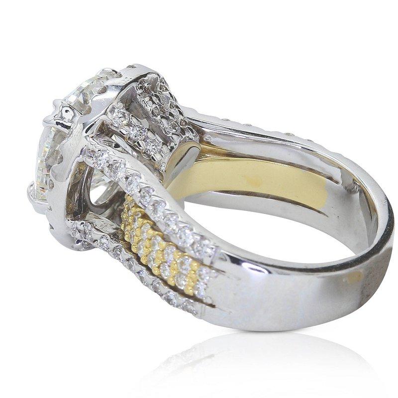 London Gold Designs Round Halo Engagement Ring - Custom Order