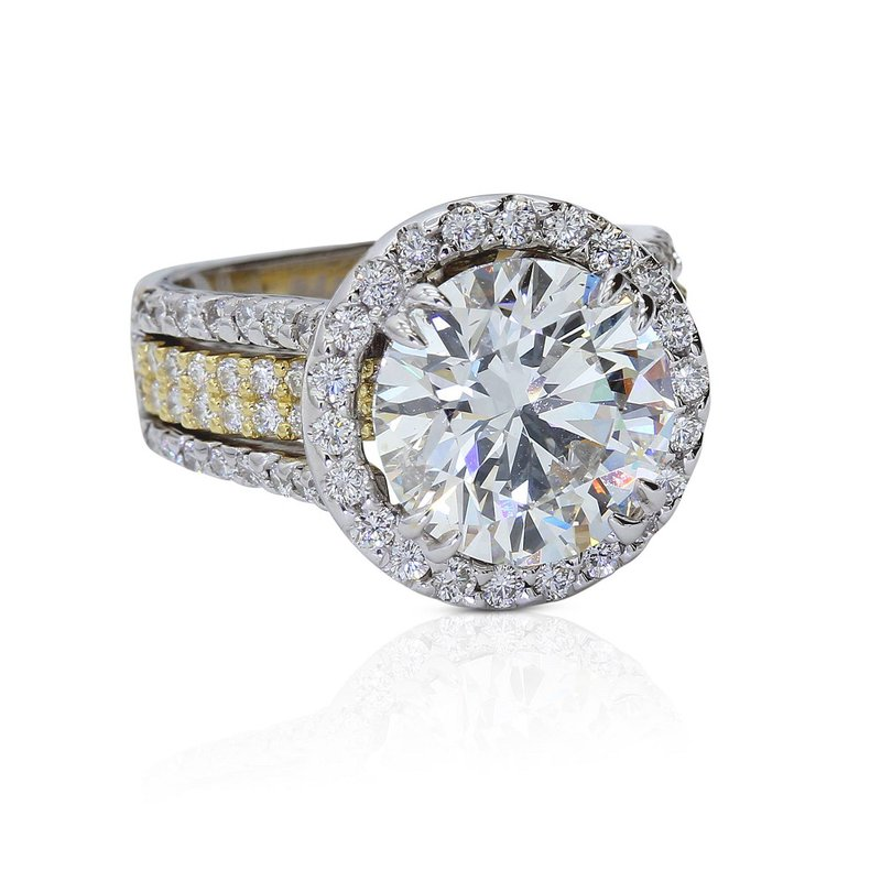 5.00ct Round Halo Engagement Ring