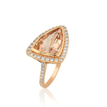 Bello Morganite & Diamond Ring 18KR