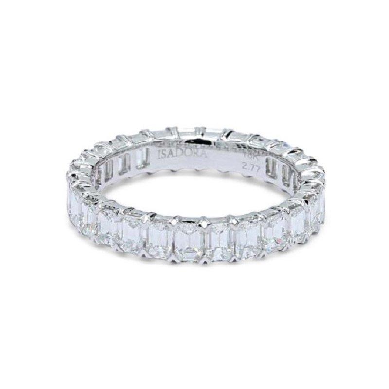 Isadora Emerald Cut Diamond Eternity Band