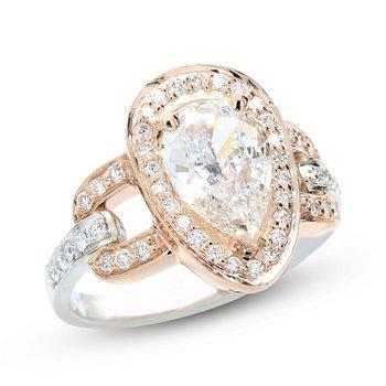Pear Shape Engagement Ring 14K - Custom Order