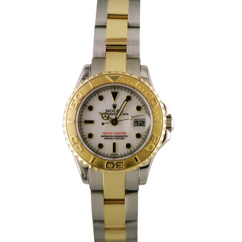 Rolex Pre-Owned Watches Lady Yachtmaster Steel & 18KY