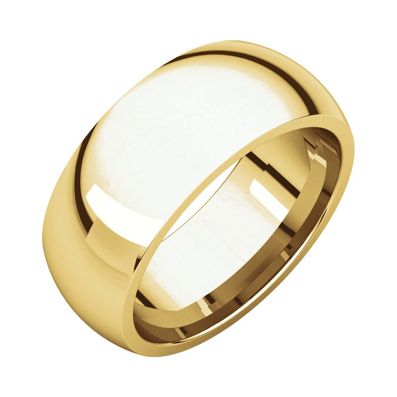 Gallery Designs 14K White 8mm Comfort Fit Band