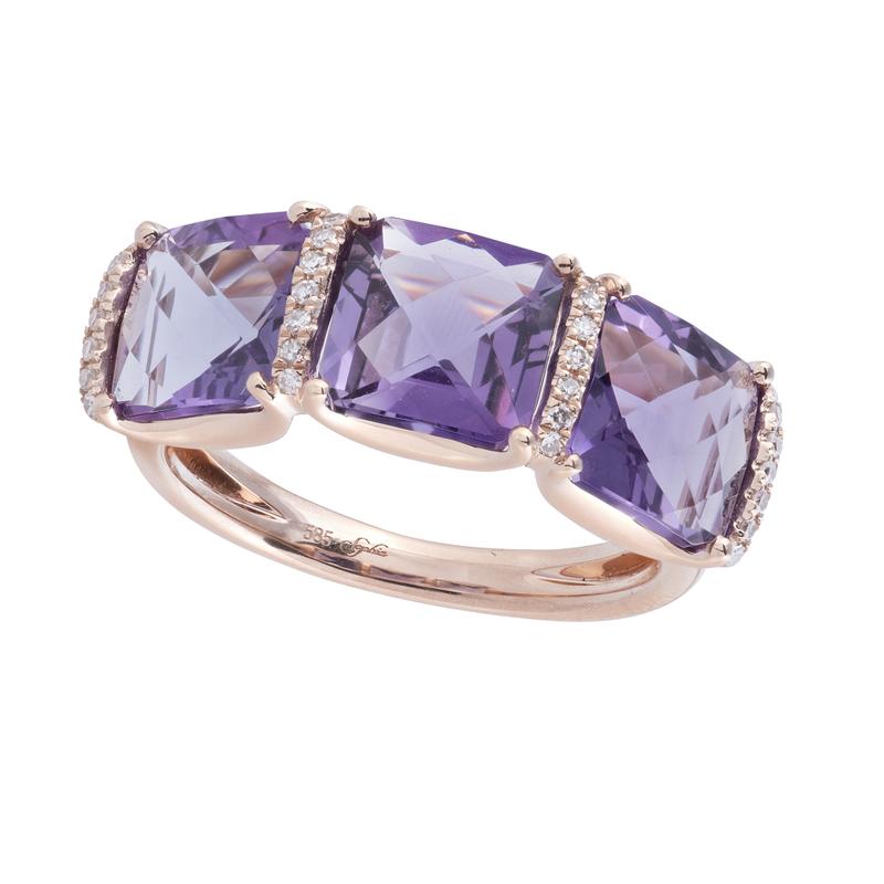 Sophia by Design Amethyst & Diamond Ring 14KR