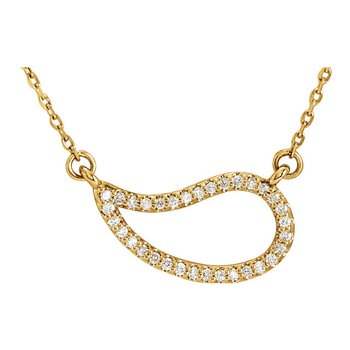 Paisley Diamond Necklace 14KY