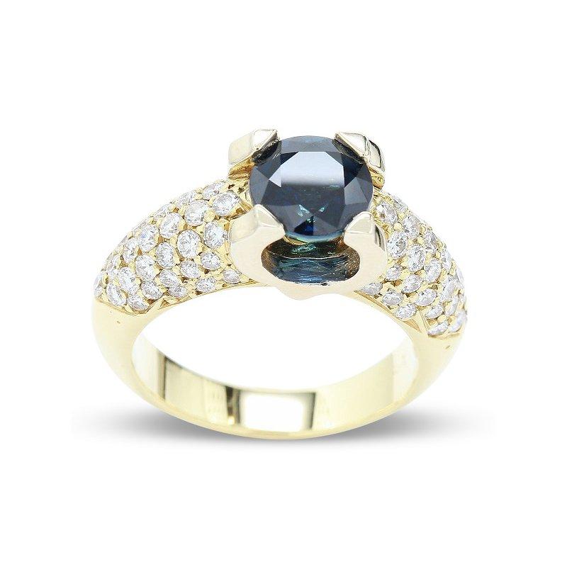 Estate Jewelry Sapphire & Diamond Ring