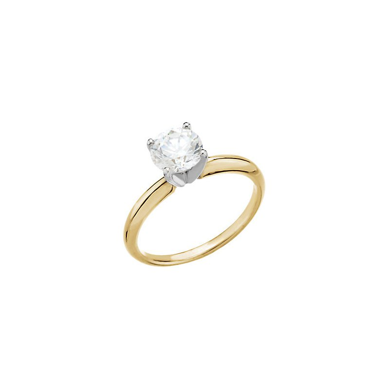 Gallery Designs 14K Yellow 4-Prong Solitaire Setting Only