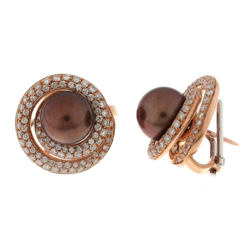 Isadora Tahitian and Diamond Earrings