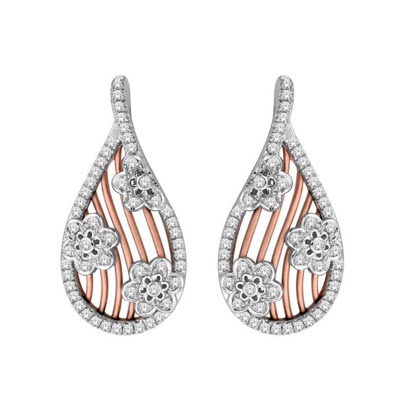 Isadora Floral Diamond Drop Earrings
