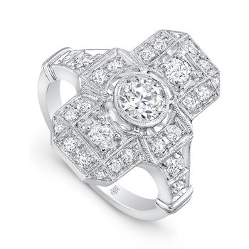 Art Deco Engagement Ring - Setting Only