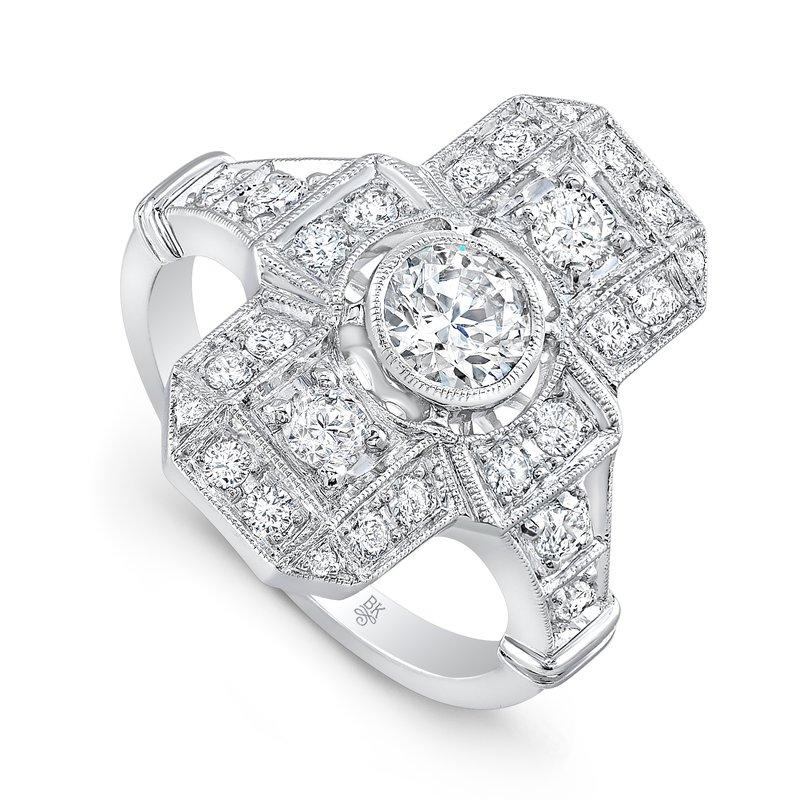 Beverley K Art Deco Engagement Ring