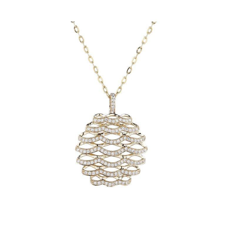 Sophia by Design Open Work Diamond Pendant