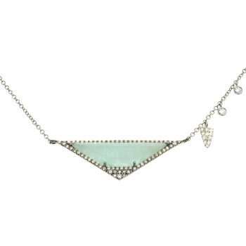 Aqua and Diamond Necklace